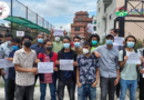 Students of Lalitpur Engineering College protesting…